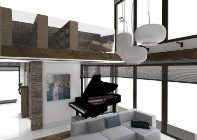 Dom z antresolą w wersji loft