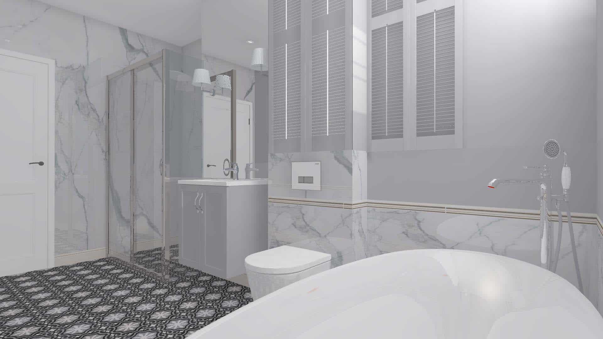 łazienka W Stylu Nowojorskim Mj Atelier Bydgoszcz I Toruń