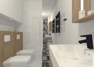 Łazienka w brązach i bieli