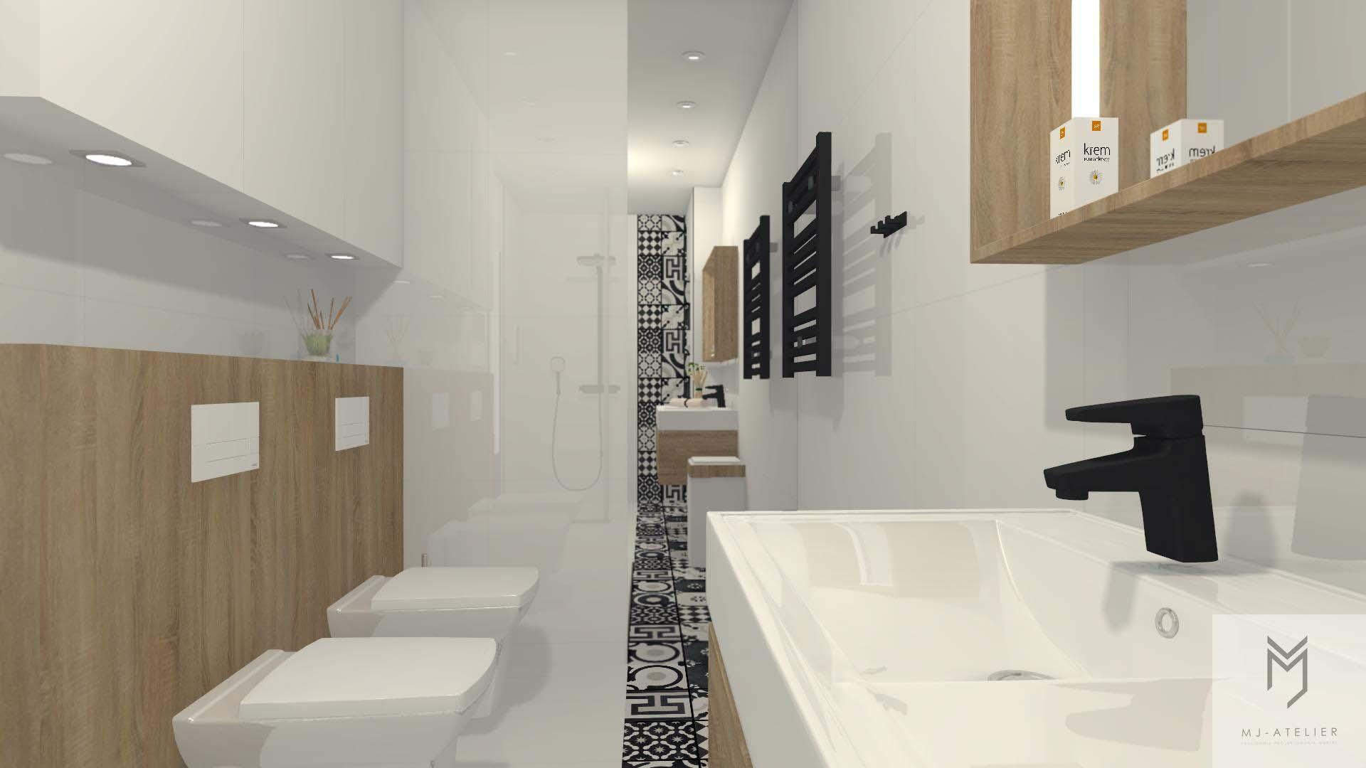 łazienka W Brązach I Bieli Mj Atelier Bydgoszcz I Toruń